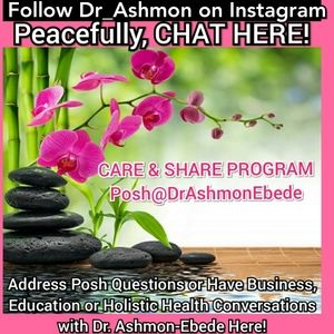 CHAT Here! Follow me @Dr_Ashmon on Instagram